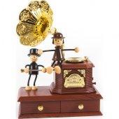 Hareketli Nostaljik Gramafon Müzik Kutusu Mücevherlik Takı Kutusu