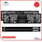 Opel Logolu Pleksi Plakalık