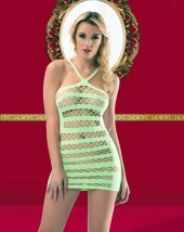 Vb Butik 1034 Yeşil Fantezi Elbise