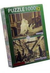 Romantic Pigeons Ve London Library 2x1000 Parca Yapboz Puzzle Gor