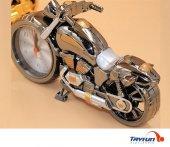 Motosiklet Tasarımlı Alarmlı Masa Saati