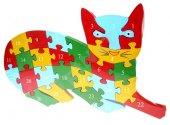 Ahşap Puzzle Kedi Figürlü Yapboz