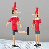 Ahşap Hareketli Pinokyo (Orta 20 Cm)