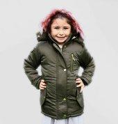 Milan Çocuk Club Kız 6 13 Yaş Çocuk Kaban Mont Haki Renk