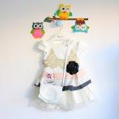Kız Çocuk Çantalı Jakar Elbise