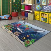 Confetti Deep Water 200x290 Denizaltı Anaokulu Kreş Ve Çocuk Odası Oyun Halısı