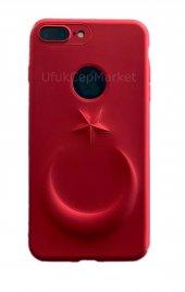 Iphone 6 3d Bayrak Kabartmalı Silikon Kılıf Kırmızı