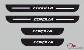 Toyota Corolla Plastik Kapı Eşiği (4lü Set)