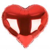 1 Adet Orta Kırmızı Kalp Folyo Balonu 60 Cm Helyumla Uçan