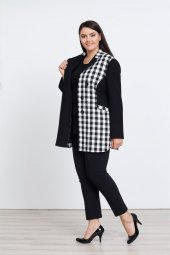 Modailgi Kareli Ceket Sıyah
