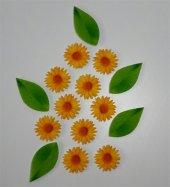 Sarı Papatya Ve Yaprak Desenli Keçe Aplike (Dk 99 E)