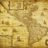 Antik Harita Desenli Keçe Plaka (Dk P179)