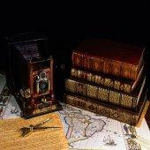 Antik Fotoğraf Makinası Desenli Keçe Plaka (Dk P21...