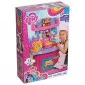 My Little Pony Kız Çocuk Oyuncak Mutfak Seti 16 Parça Tezgahlı