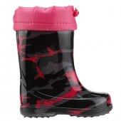 Jump 20970 D Siyah Günlük Yağmur Su Geçirmez Kız Çocuk Çizme