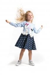 Denokids Kuğu Aşkı Kız Çocuk Kot Etekli Elbise