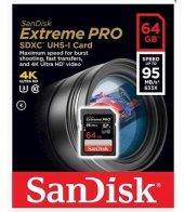Sandisk 64gb Sdxc 95mb Sn 633x Extremepro Hafıza K...