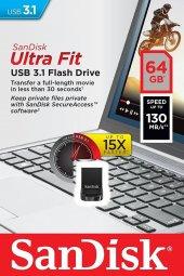Sandisk Ultra Fit 64gb Usb 3.1 Usb Bellek Sdcz430 064g G46