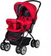Crystal Baby 212 Mega Çift Yönlü Bebek Arabası Kırmızı
