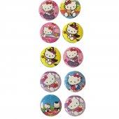 10 Adet Hello Kitty Rozet Hediyelik Kız Parti Malzemeleri