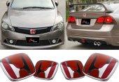 Honda Civic 2006.2011 Fd6 Panjur Bagaj Logo Set