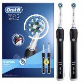 Oral B Pro 2900 Şarj Edilebilir Diş Fırçası Siyah 2&#039 Li Avantaj