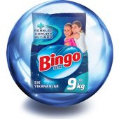 Bingo Matik Sık Yıkanan 9 Kg Beyazlar Ve Renkliler İçin Toz Çamaşır Deterjanı