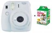 Fujifilm Instax Mini 9 Fotoğraf Makinesi +mini 10x2 20 Sheets Fotoğraf Filmi Beyaz