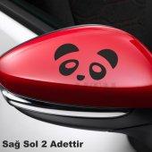 Ayna Panda Oto Sticker 2 Adet