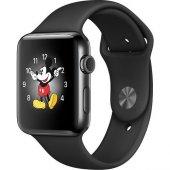 Apple Watch Seri 2 42 Mm Uzay Siyahı Paslanmaz Çelik Kasa Siyah S