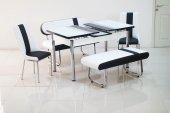 Bankli Masa Takimi Mutfak Masası Açılır Uzayan Masa Takımları