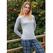 Penye Mood 8458 Kadın Pijama Takımı Gri