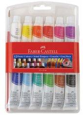 Faber Castell 12' Li Tüplü Guaj Boya