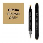 Touch Twın Marker Br104 Brown Grey