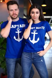 Sevgili Kombini Captain First Mate Mavi Tişört Kısa Kollu Tshirt