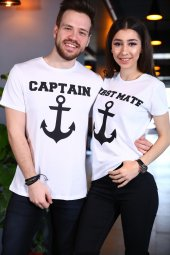 Sevgili Kombini Captain First Mate Beyaz Tişört Kısa Kollu Tshirt