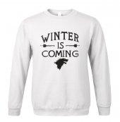 Winter İs Coming Beyaz Sweatshirt Stark Wınter Is Comıng