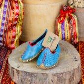 Gaziantep Çocuk Yemeni Ayakkabı Turkuaz Renkli