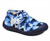 Gezer 2778 Mavi Kamuflaj Erkek Çocuk Panduf Ev Kreş Ayakkabısı