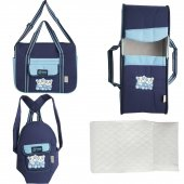 Nenny Baby Açık Mavi Lacivert 4 Lü Taşıma Seti