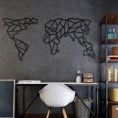 Dekoratif Ahşap Tablo Dünya Haritası