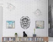 Dekoratif Ahşap Tablo Aslan (Lion)