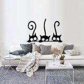Dekoratif Ahşap Tablo Cats