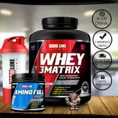 Hardline Whey 3 Matrix 2300 Gr Protein Tozu + Amino Full 300 Tablet