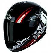 Yohe 966 Lion Tam Kapalı Siyah Camlı Motosiklet Kaskı