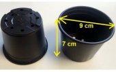 Vakum Uretim Saksısı 50 Adet 9x7 Cm 0,29 Litre Üretim Saksısı Siyah Saksı Fide Saksı