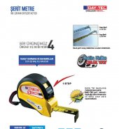 Bay Tec 3m X 16mm Durdurma Mekanizmalı Çelik Şerit Metre No 62