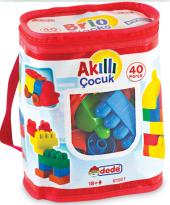 Dede Oyuncak Akıllı Çocuk 40 Parça Eğitici Lego Set