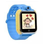 Sentar V80 Td07 Kameralı Akıllı Saat Çocuk Telefonu Sim Kart Girişli Gps Mavi