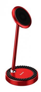 Baseus Circular Steady Masaüstü Metal Universal Telefon Tutucu Kırmızı